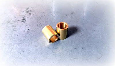 "Custom Brass Bushings - 0.688 X 0.875"" Machined Bushings In Plain Brass Material"