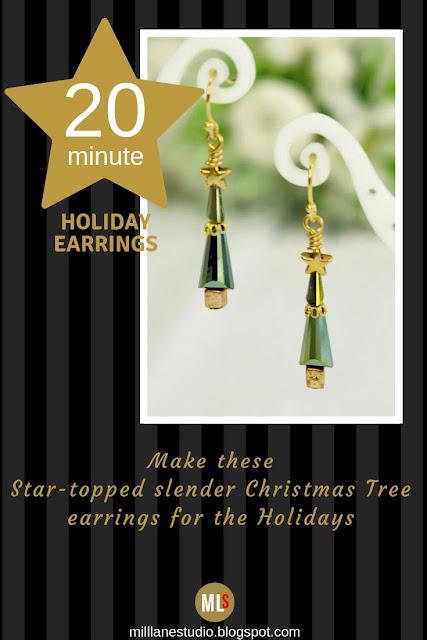 Slender Christmas Tree earrings inspiration sheet