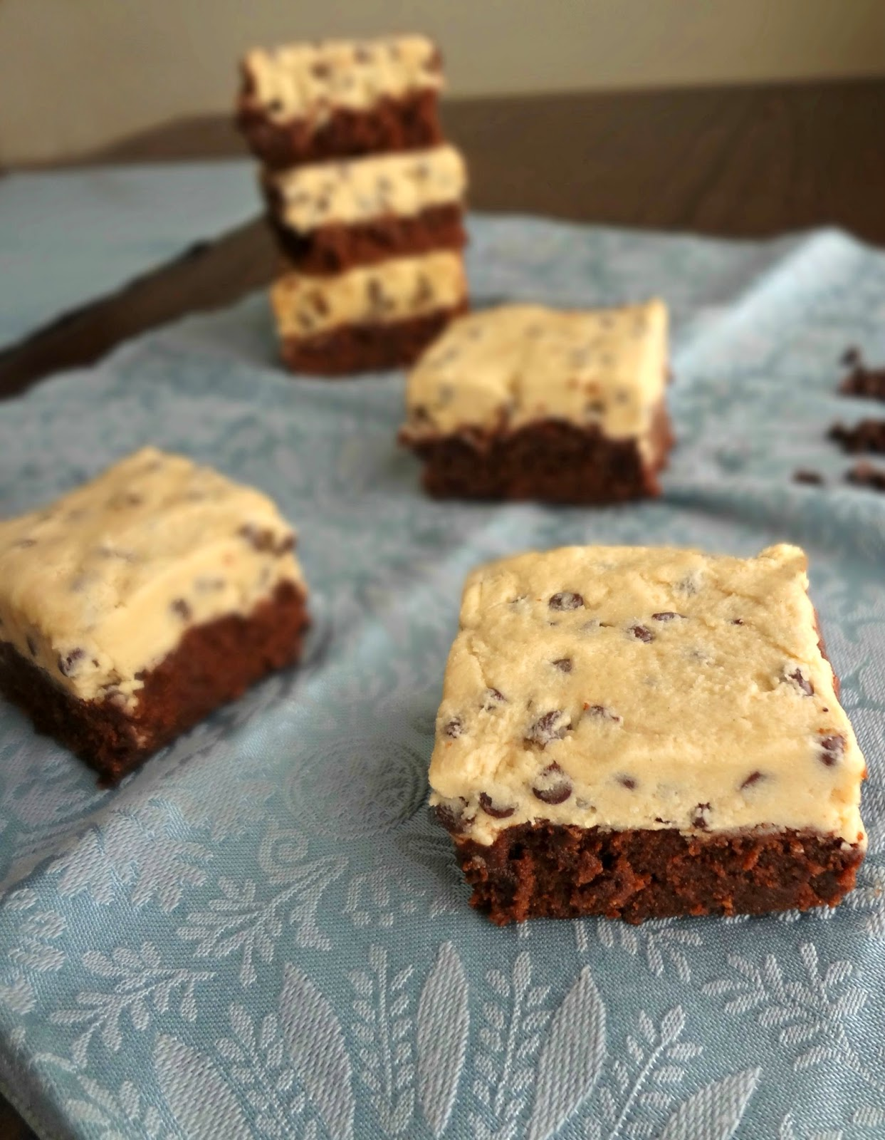The Cooking Actress: Chocolate Chip Cookie Dough Brownies