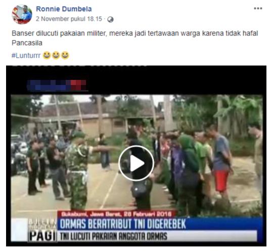 Viral Banser Berpakaian Militer Dilucuti dan Jadi Tertawaan Warga, Ternyata Ini Faktanya!