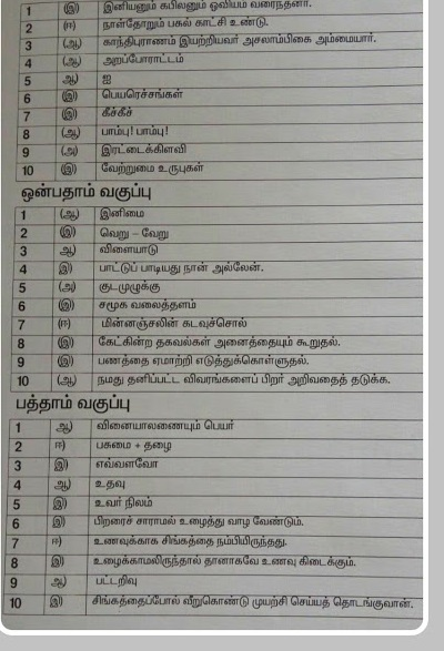 5th standard tamil guide