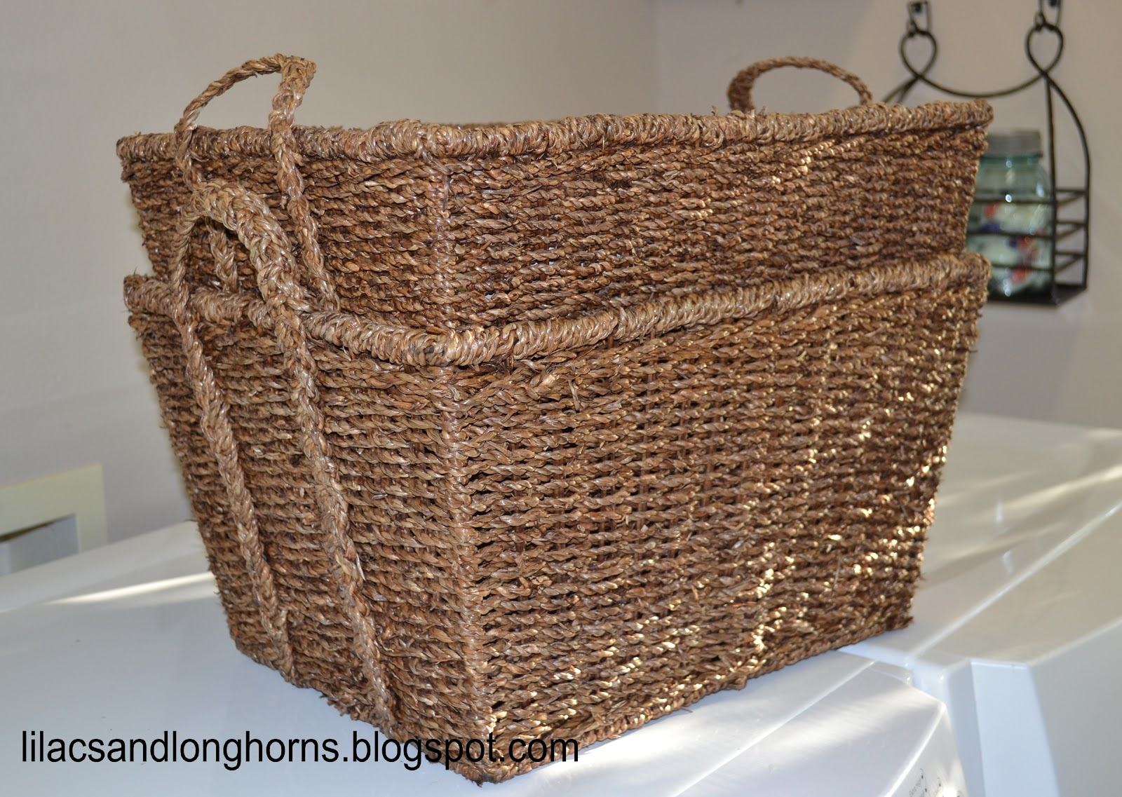 One basket is for random dirty laundry (like dirty socks left by the back door dish rags and dog towels) and the other is for miscellaneous stuff like the ... & Laundry Room Archives - Lilacs and LonghornsLilacs and Longhorns