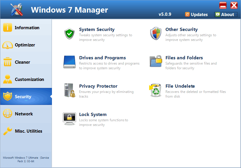 Free Windows 7 Manager