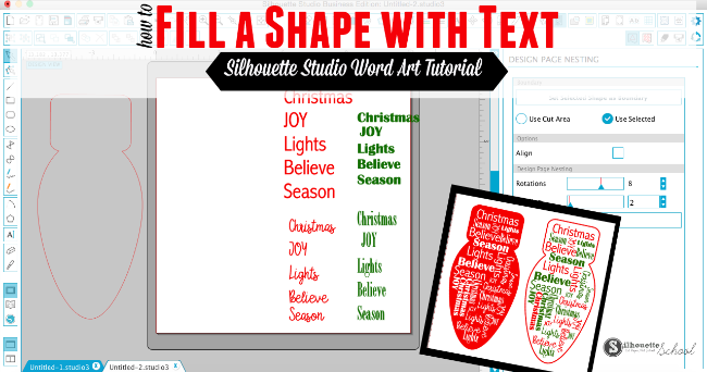 Silhouette Studio Word Art How To Have Text Form A Shape