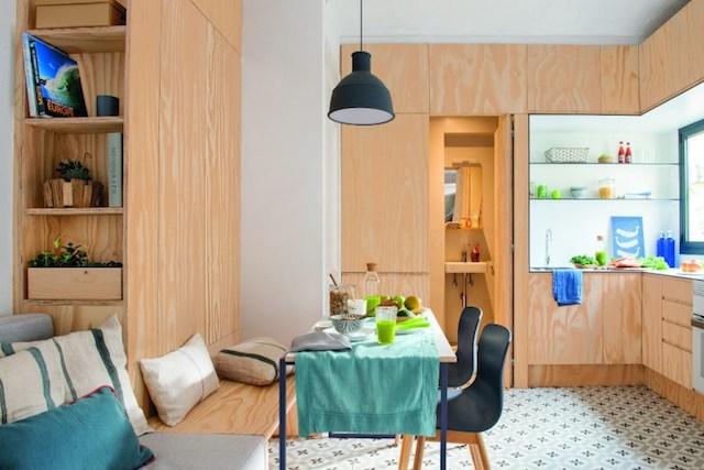 Cocina y mobiliario de madera a medida