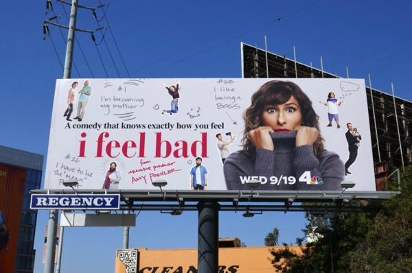 I Feel Bad series premiere billboard