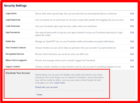 How to Deactivate or Delete Your Facebook