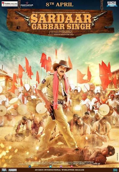 Poster of Sardaar Gabbar Singh 2016 480p Hindi pDVDRip Full Movie Download