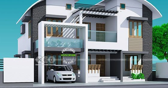 3 Bedroom Curved Roof Mix 2500 Sq Ft House Kerala Home Design And Floor Plans