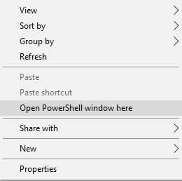 Instal Pembaruan Android Pie Nokia 7 Plus - Buka PowerShell