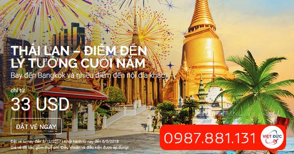 Thái Lan-Điểm đến lý tưởng cuối năm giá 33 usd
