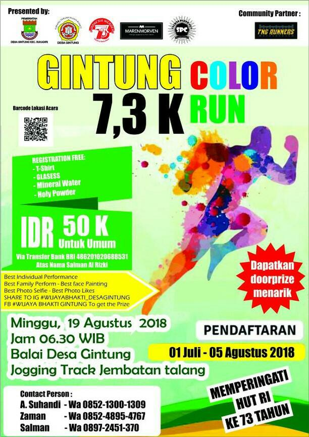 Gintung Color Run • 2018