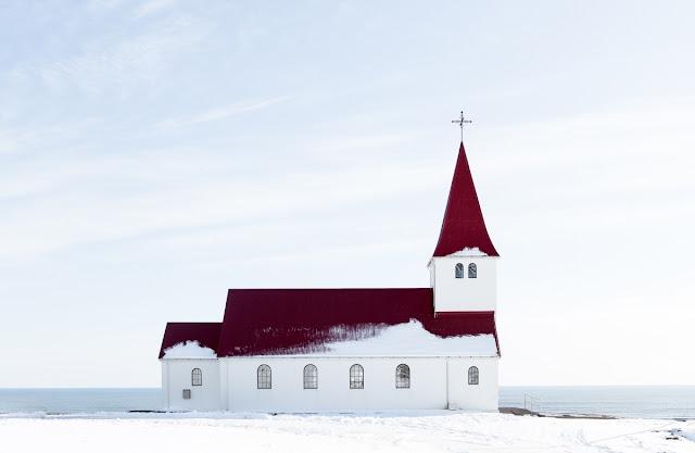 Werbetexter, Frohes Fest, Weihnachten, Winter, Kirche, stimmungsvoll, Island, Schnee