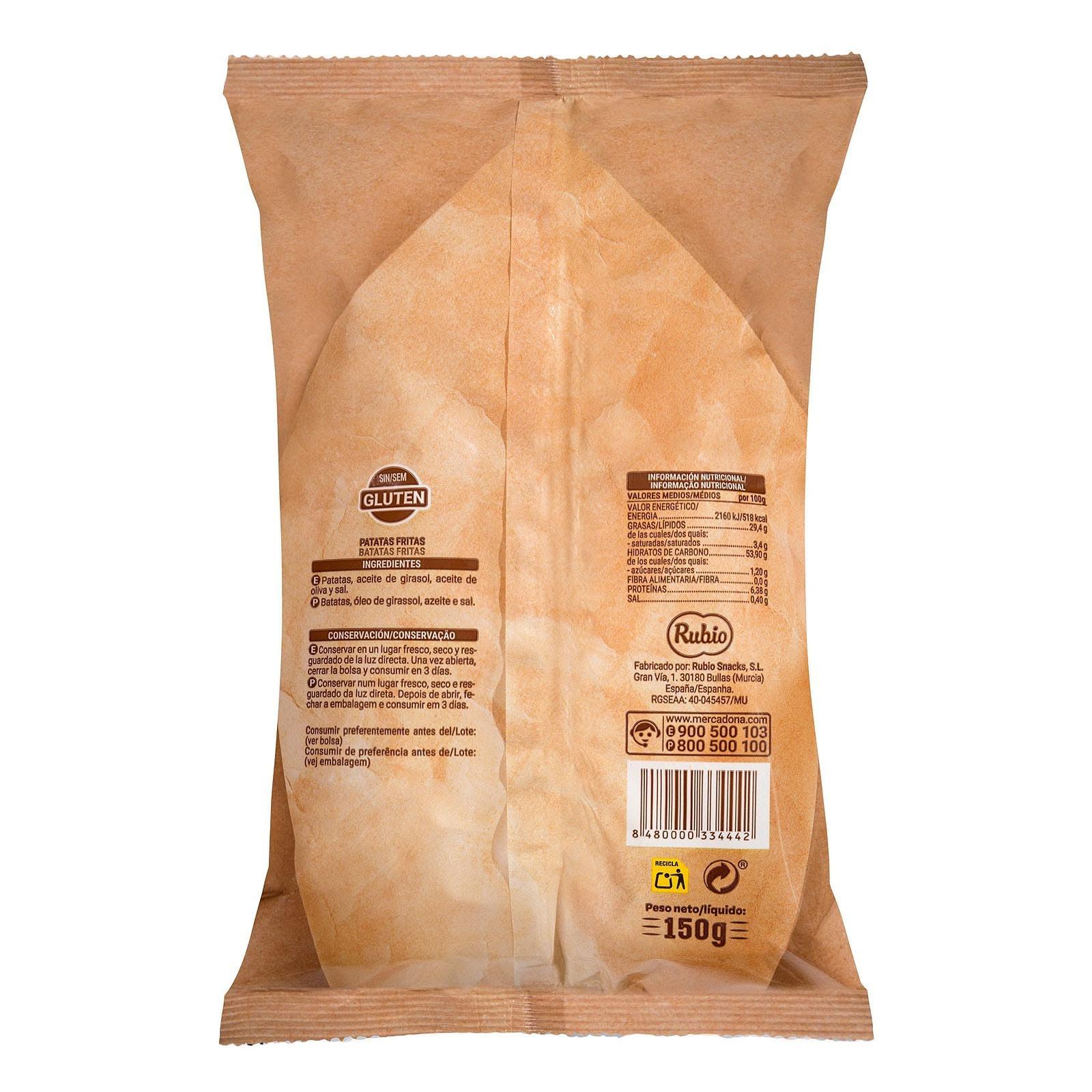 Patatas fritas receta churrería Hacendado