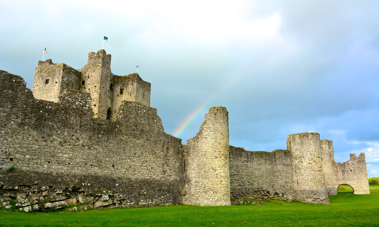 Rainbow leads into Castle Train, Ireland