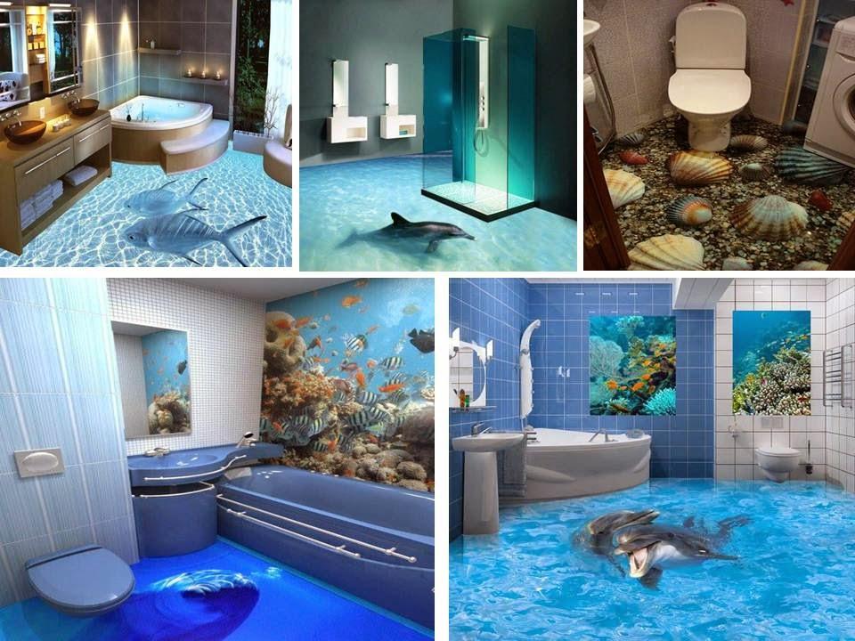 3d Home Decor Idea S: Fantastic Bathroom 3D Floor Design Ideas