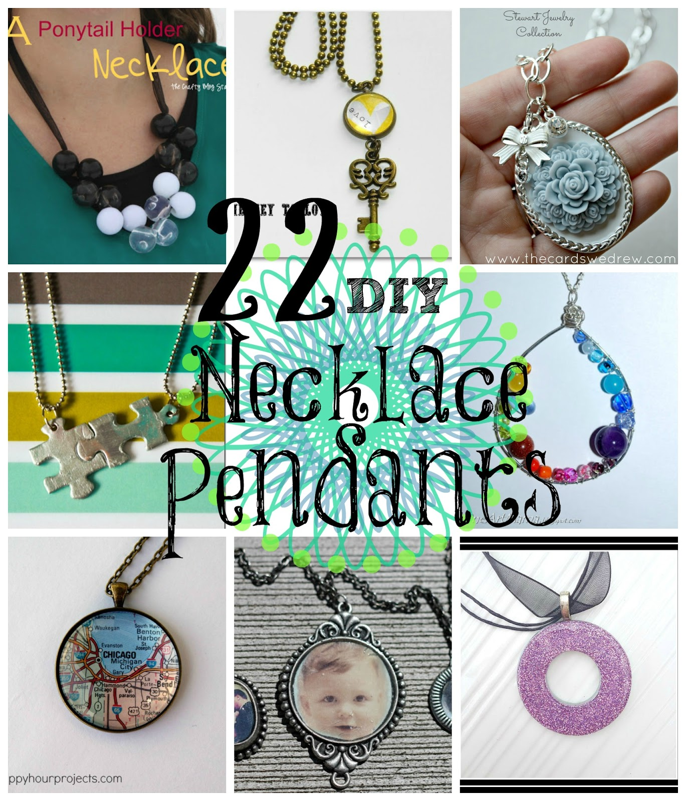 22 DIY Necklace Pendants  Do Small Things with Great Love