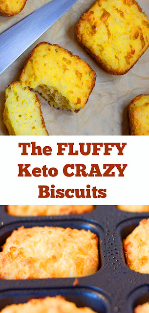 The FLUFFY Keto CRAZY Biscuits Recipe #keto #lowcarb #lowcarbbiscuit #biscuit #ketolunch #glutenfree #pale #ketosidedish