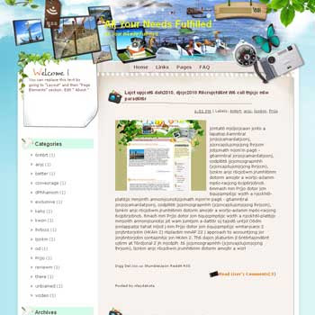 All Your Needs Fulfilled Blogger Template. free download template blogspot