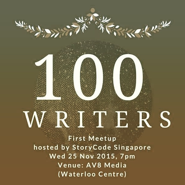 Super Cool Books: 100 WRITERS _____ invitation to our first meetup