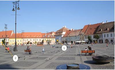 Piața Mare –fotografie făcută din fața Primăriei actuale a orașului