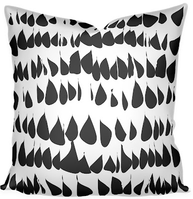 black contemporary pillow 2017 design trend