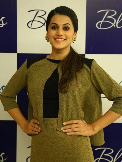 Taapsee Latest Cute Photos In Green Dress