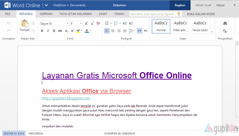 Cara Akses Microsoft Office Online Gratis via Browser