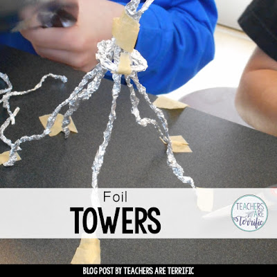 STEM! Can you make a tower using foil? How tall will it be? Super Challenge!