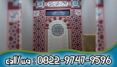 Jasa Lukis Kaligrafi Kontemporer Masjid Bekasi