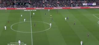 ليونيل ميسي بطل ريمونتادا برشلونة أمام فالنسيا والتى تنقذه من فخ الهزيمة