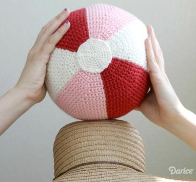 Crochet Ball Pillow