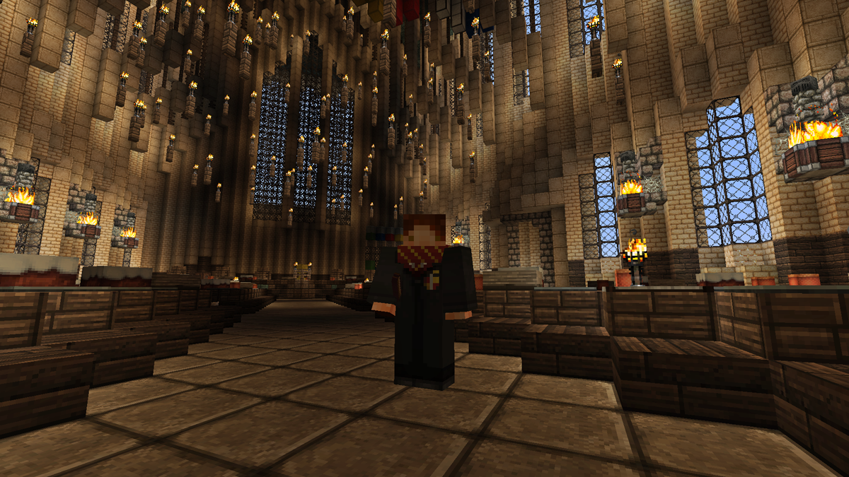 Ashleigh Warner Portfolio Blog Minecraft Hogwarts Robes