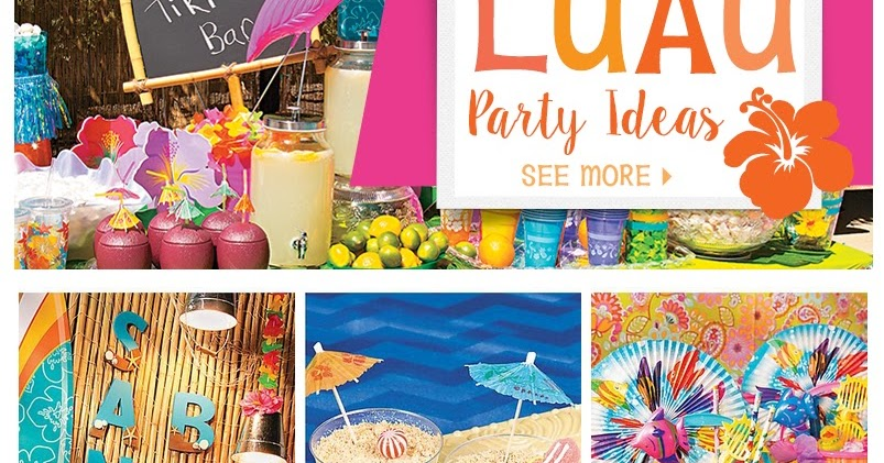 Doodlecraft luau beach party for K decorations trading