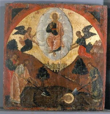 Η ταφή και η μετάσταση του αγίου Ιωάννη του Θεολόγου Χώρος έκθεσης IV.2 Από το Ανθίβολο στην Εικόνα, Αρχές 17ου αι.