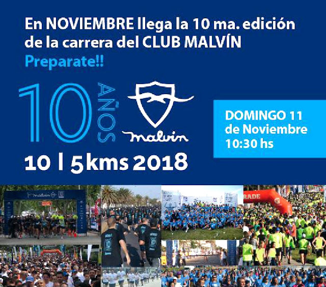 10k y 5k Club Malvín - 10 años (domingo 11/nov/2018)