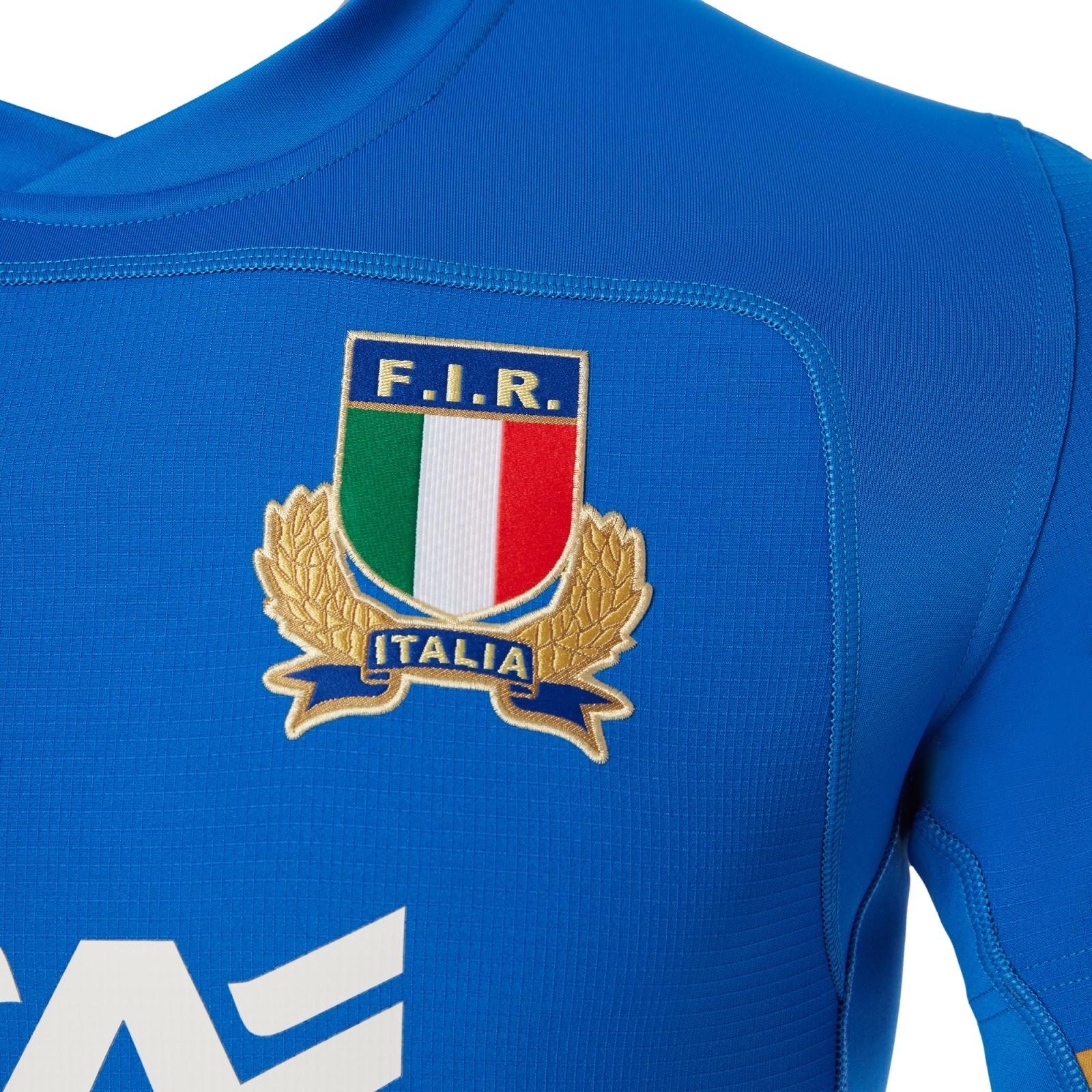 Macron lança as novas camisas da seleção de rugby da Itália - Show ... 8c85f577b53b5