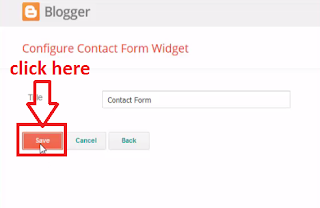 Adding Contact form on blogger sidebar