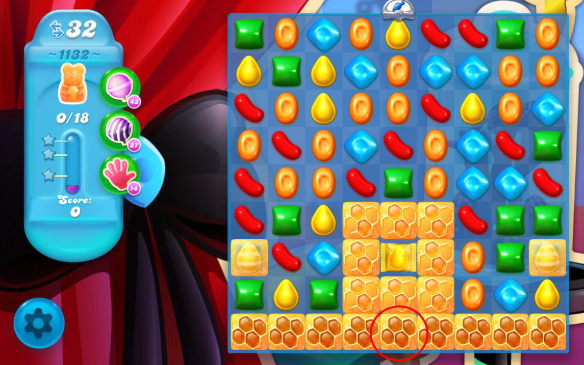 Candy Crush Soda Saga level 1132