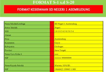 Aplikasi Database Siswa Excel Untuk Urusan Kesiswaan SD, SMP, SMA