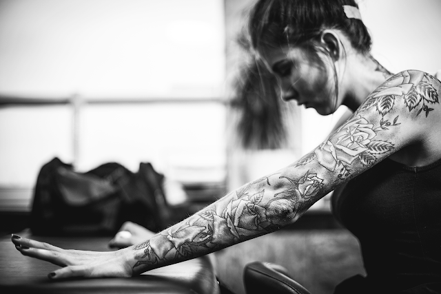 D E Y N N Neck Back Tattoo