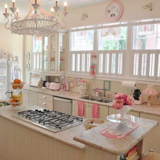 Hermoso dise o de cocina pastel ideas para decorar for Ideas para disenar tu cocina