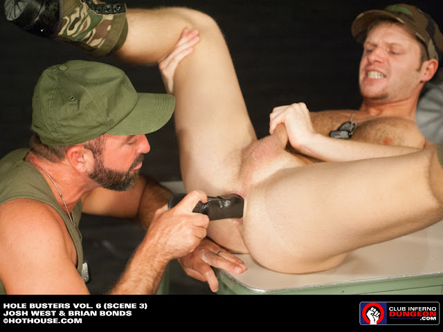 These two gays in military want to show you how they love to play with anal  toys! This fetish so amazing, if you never saw so hot buttplay before, ...