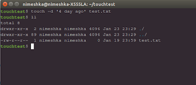 Ubuntu touch: Change the created, access or modified date of a file using terminal.