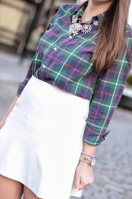 womens oxford, plaid shirt, ralph lauren polo