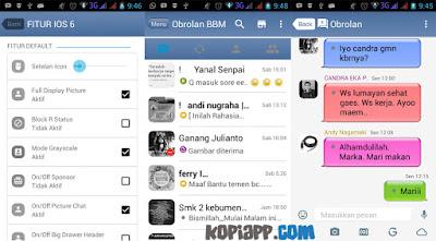 bbm tema ios iphone 6 2016
