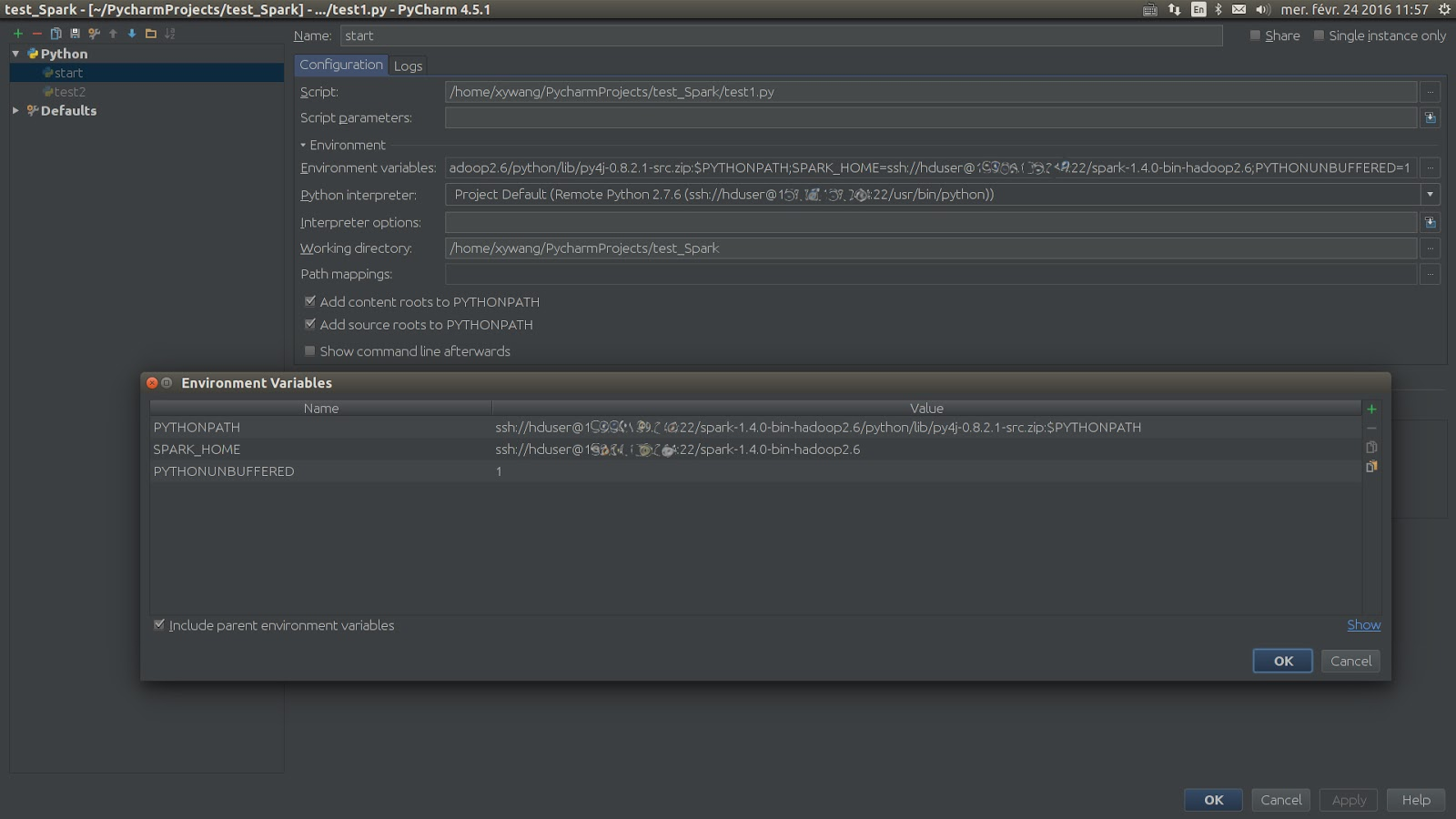 Xinyu Wang's Blog: How to programe in pyspark on Pycharm locally