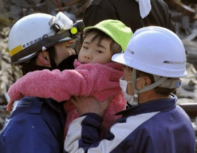 Japan Earthquake Tsunami Child Rescue