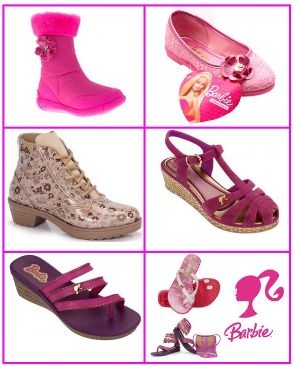 sapatos-barbie Coleção Barbie |Calçados e Botas Infantis