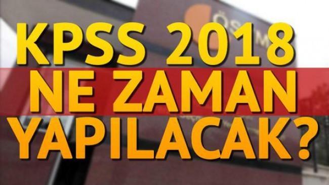 2018 KPSS lisans ve önlisans sınavı ne zaman yapılacak